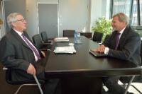 Meeting between Johannes Hahn, Member of the EC, and Jean-Claude Juncker, President-elect of the EC