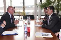 """Illustration of """"Visit of Michel Lebrun, President of the Committee of the Regions, to the EC"""""""