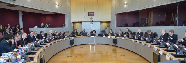 Participation de José Manuel Barroso, président de la CE, au séminaire pour la présentation de 'l'enquête sur les réformes économiques dans l'UE 2008-2014'