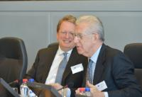 """Illustration of """"Participation of José Manuel Barroso, President of the EC, in the seminar for the presentation of the..."""