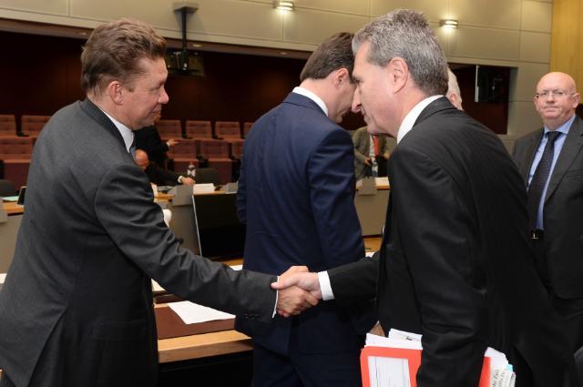Réunion trilatérale sur le gaz UE/Russie/Ukraine, Bruxelles, 21/10/2014