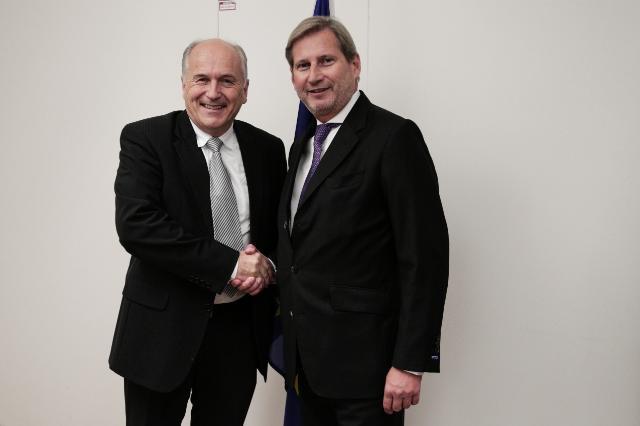 Meeting between Valentin Inzko, High Representative for Bosnia and Herzegovina, and Johannes Hahn, Member of the EC