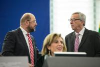 """Illustration of """"Participation of Jean-Claude Juncker, President of the EC, in the EP plenary session to present the..."""