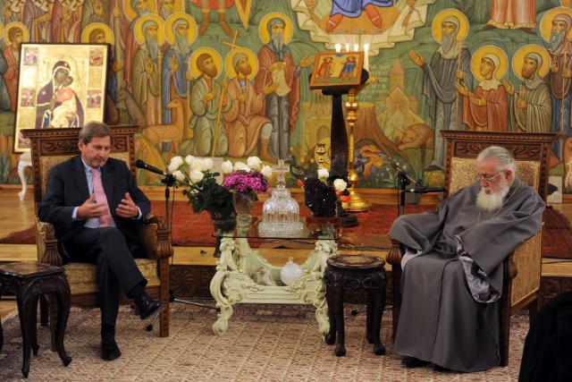Visite de Johannes Hahn, membre de la CE, en Géorgie