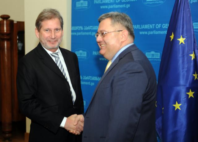 Visit by Johannes Hahn, Member of the EC, to Georgia