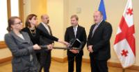 """Illustration of """"Visit by Johannes Hahn, Member of the EC, to Georgia"""""""