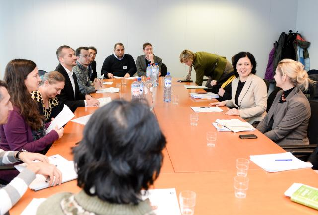 Visit of a delegation from the ERGO Network to the EC