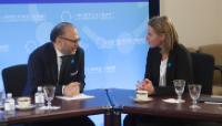 """Illustration of """"Visit of Federica Mogherini, Vice-President of the EC, to the United States"""""""