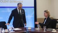 """Illustration of """"Visite de Federica Mogherini, vice-présidente de la CE, aux États-Unis"""""""