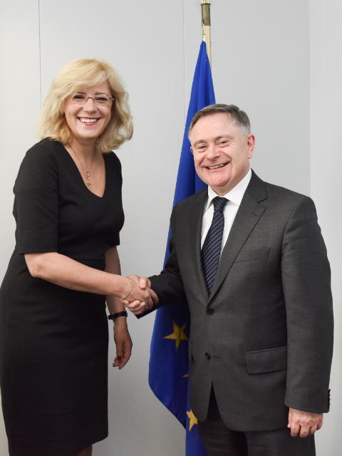 Visite de Brendan Howlin, ministre irlandais des Dépenses publiques et des Réformes, à la CE