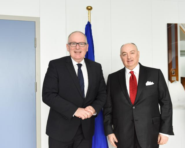 Visit of Moshe Kantor, President of the European Jewish Congress; Chairman of the European Jewish Fund, to the EC