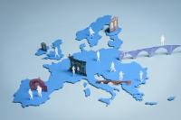 "Illustration of ""Ten priorities for the EU: Collages by Christophe Maout"""
