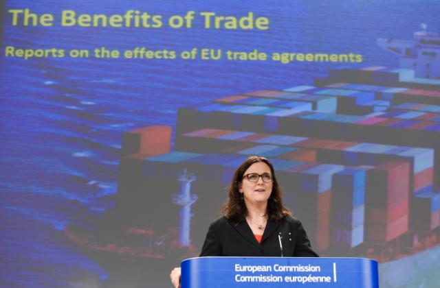 Press conference by Cecilia Malmström, Member of the EC, on the positive impact of trade on the economy - the example of the trade agreement with South Korea