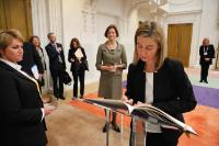 """Illustration of """"Visit of Federica Mogherini, Vice-President of the EC, to the Hague"""""""