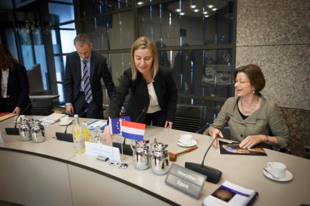 Visite de Federica Mogherini, vice-présidente de la CE, à La Haye