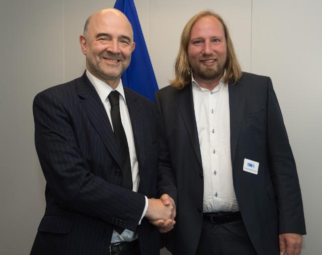 Visite d'Anton Hofreiter, co-président du groupe Alliance 90/Les Verts au Bundestag allemand, à la CE