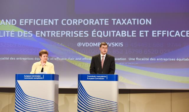 Joint press conference by Kristalina Georgieva and Valdis Dombrovskis, Vice-Presidents of the EC, on the conclusions of the weekly meeting of the Juncker Commission