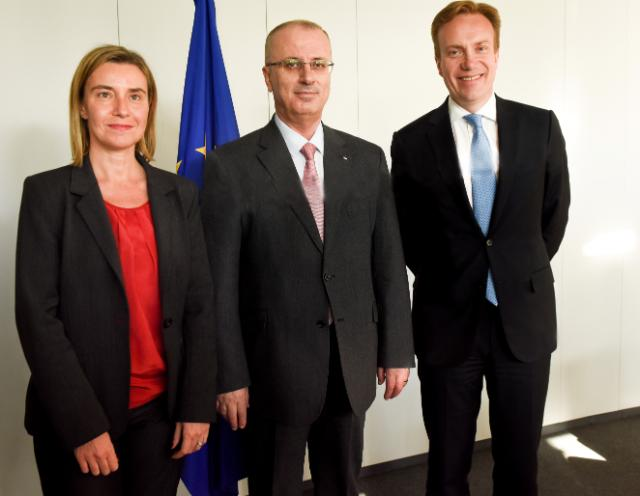 Visite de Børge Brende, ministre norvégien des Affaires étrangères, et Rami Hamdallah, Premier ministre palestinien, à la CE