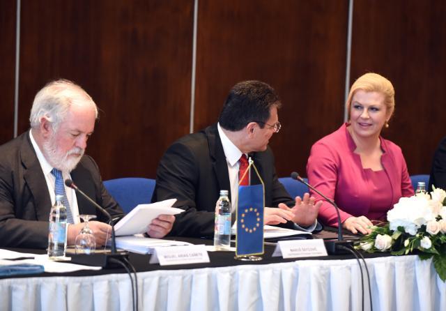 Réunion du groupe à haut niveau sur la connexion gazière pour l'Europe centrale et du Sud-Est et 10e Croatia Forum, Dubrovnik, 09-11/07/2015