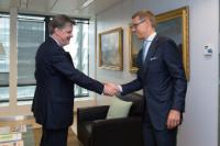 Visit of Alexander Stubb, Finnish Minister for Finance, to the EC