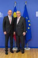 Visite d'Adrian Hasler, Premier ministre liechtensteinois, à la CE