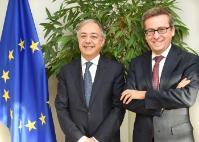 Visite de Vítor Manuel da Silva Caldeira, président de la Cour des comptes européenne, à la CE