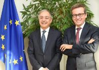 Visit of Vítor Manuel da Silva Caldeira, President of the European Court of Auditors, to the EC