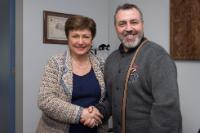 Visite de Hristo Stefanov Mutafchiev, président de l'Union bulgare des acteurs, à la CE