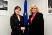 Visite de Cristiana Pașca Palmer, ministre roumaine de l'Environnement, des Eaux et des Forêts, à la CE