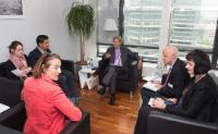 Visite des représentants de la Féderation européenne des journalistes à la CE
