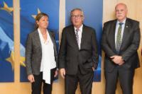 Visite d'Àngels Bosch Campreciós, présidente d'EuroCOP, et Roger Mercatoris, premier vice-président d'EuroCOP, à la CE