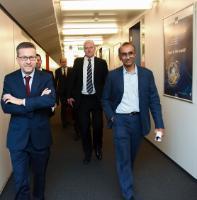 Visite de représentants de trois académies scientifiques majeures, à la CE: l'Académie Suisse auprès du Præsidium de l'Académie allemande des sciences Leopoldina, l'Académie des sciences Science et la Royal Society, à la CE