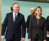 Visite d'Igor Dodon, président de la Moldavie, à la CE