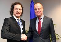 Visite d'Indrek Saar, ministre estonien de la Culture, à la CE