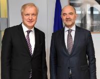 Visite d'Olli Rehn, membre du bureau de la Banque de Finlande, à la CE