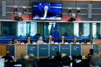 Jean-Claude Juncker, President of the EC, at the meeting of the PANA Committee of the European Parliament
