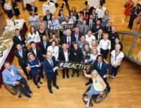 Tibor Navracsics and Corina Creţu, Members of the EC, at the meeting of #BeActive Ambassadors