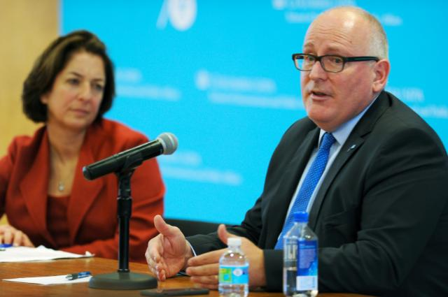visit of Frans Timmermans, First Vice-President of the EC, to the United States