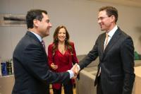 Visite de Juan Manuel Moreno Bonilla, président du Parti Populaire (PP) espagnol d'Andalousie, à la CE