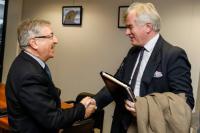 Visite de Justin Mundy, directeur de l'Unité 'Durabilité internationale' des Oeuvres de charité du Prince de Galles, à la CE