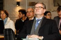 Visite de Julian King, membre de la CE, à la Maison des Cultures et de la Cohésion social (MCCS) de Molenbeek