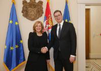 Visit by Corina Creţu, Member of the EC, to Serbia