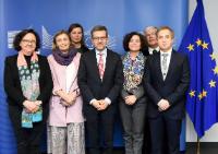 Visite de représentants des universités espagnoles et portugaises à la CE