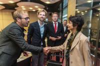 Visite de Visite de Marianne Thyssen, membre de la CE, aux Pays-Bas