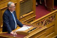 Visite de Jean-Claude Juncker, président de la CE, en Grèce