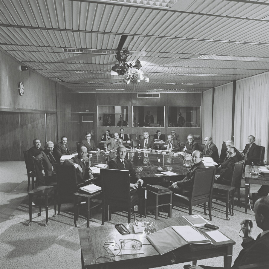 First meeting of the Jenkins Commission