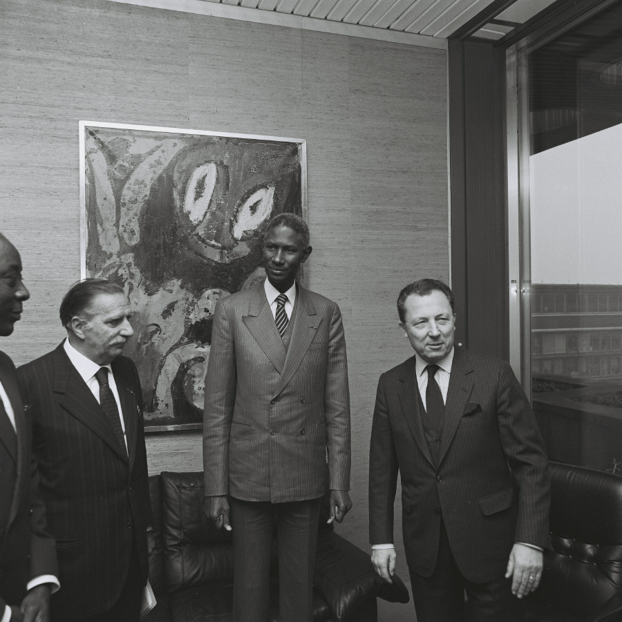 Visit of Abdou Diouf, President of Senegal, to the CEC