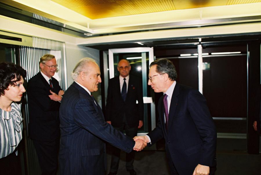 Visit of Dimitur Popov, Bulgarian Prime Minister, to the CEC