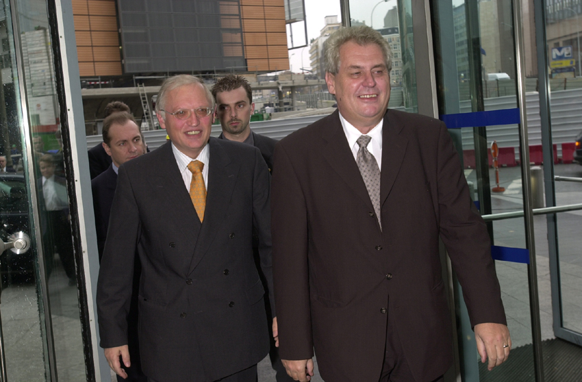 Visit of Miloš Zeman, Czech Prime Minister, to the EC