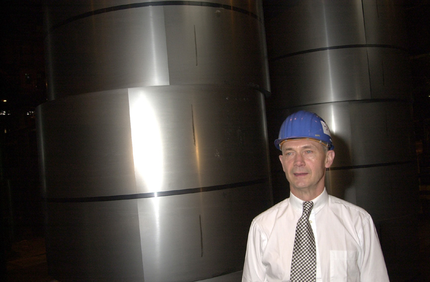 Visit of Pascal Lamy, Member of the EC, to the Sidmar Company